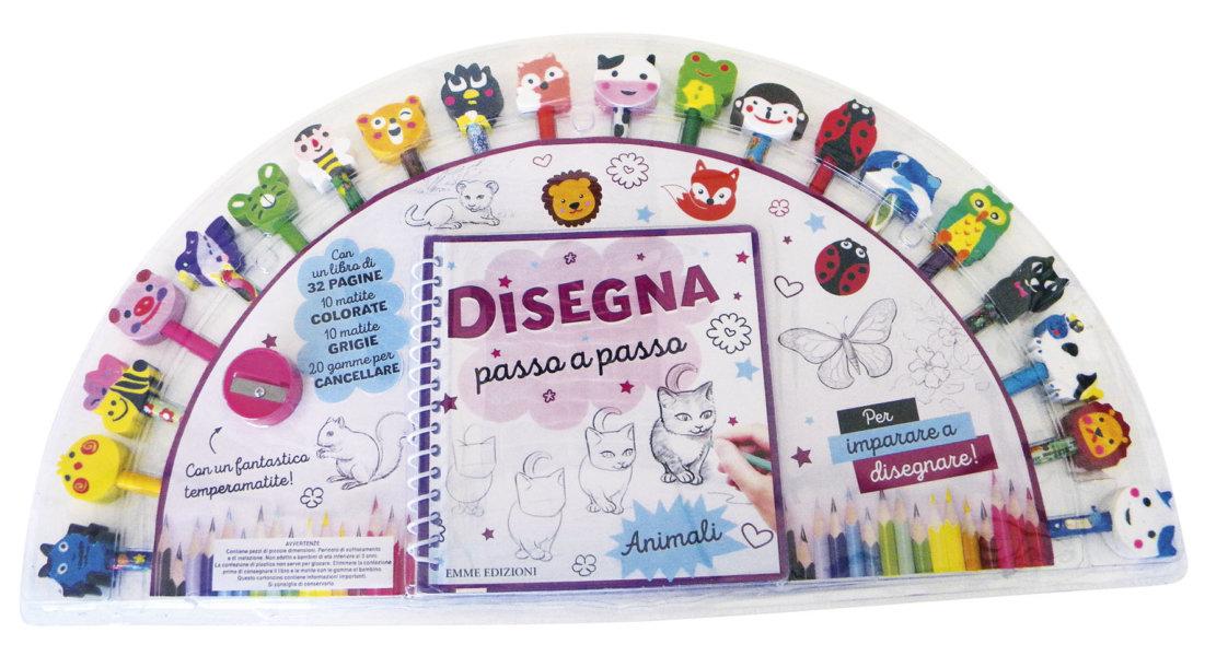 Disegna passo a passo - Animali | Emme Edizioni | 9788867145980