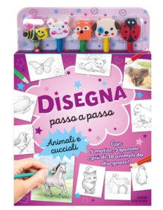Disegna passo a passo - Animali e cuccioli - Ashfort - Könye - Emme Edizioni - 9788867147267