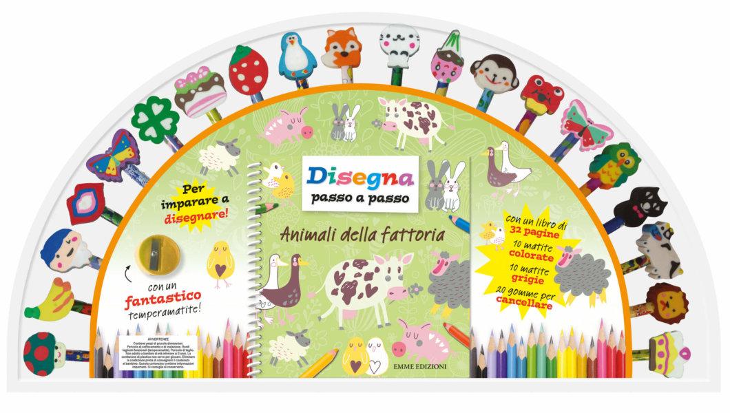 Disegna passo a passo - Animali della fattoria - AA.VV. | Emme Edizioni