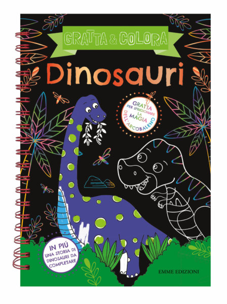 Gratta e colora - Dinosauri- AA.VV./Wade | Emme Edizioni