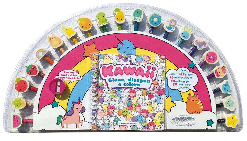 Kawaii - Gioca, disegna e colora - AA.VV. | Emme Edizioni